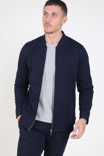 Clean Cut Milano Pinstripe Jacket Navy