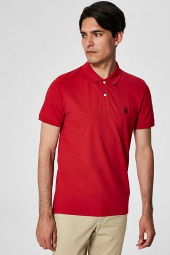 Aro S/S Emroidery Polo Shirt Noos Scarlet Sage
