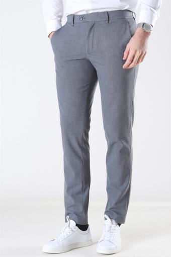 Slim-Carlo Flex Structure Pants Grey Melange