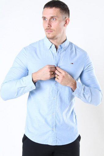 Tommy Jeans Slim Stretch Oxford Paita Perfume Blue
