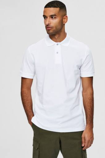 SLHNEO SS POLO S NOOS Bright White