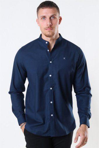 Clean Cut Oxford Mao Shirt Navy