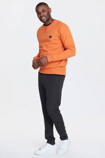 Orange/Charcoal Piece Sweatshirt