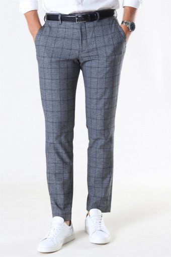 Slim-Carlo Cotflex Pants Dark Grey/Black