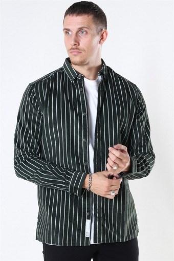 Edward Striped Corduroy Shirt Deep Depths