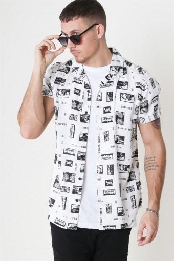 Oliver SS Printed Shirt White