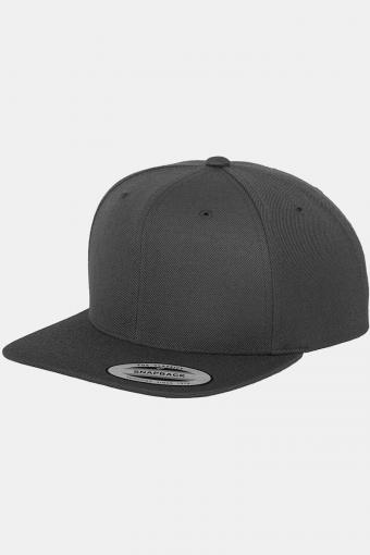 Classic Snapback Cap Dark Grey/Green