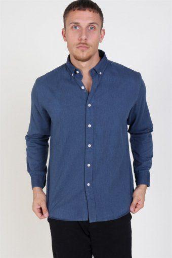 Clean Cut Sälen Flannel Shirt Denim Blue