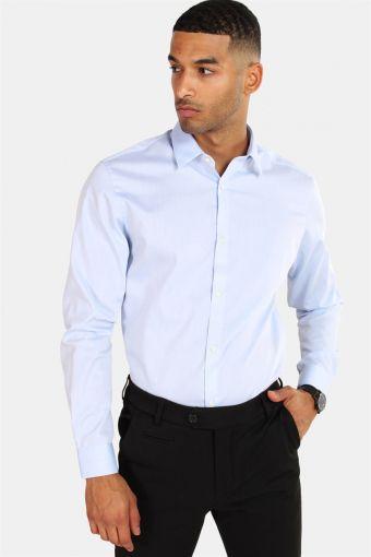 Non Iron Shirt L/S Cashmere Blue
