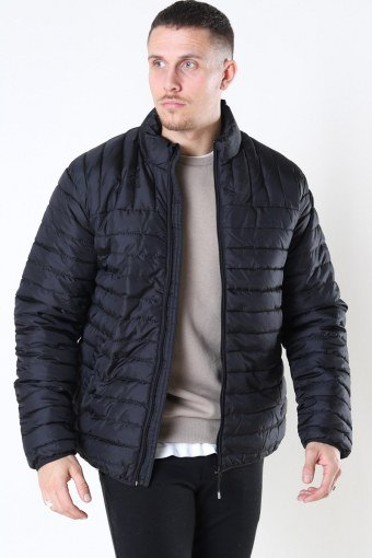 Paul Quilted Highneck Jakke Black