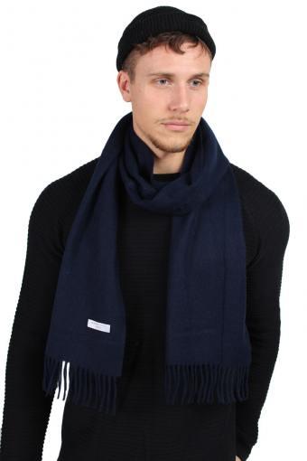 Tope Wool Halstørklæde Dark Navy