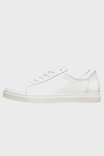 SLHEVAN LEATHER TRAINER B NOOS White