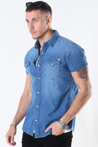 Sheridan Shirt S/S Medium Blue Denim