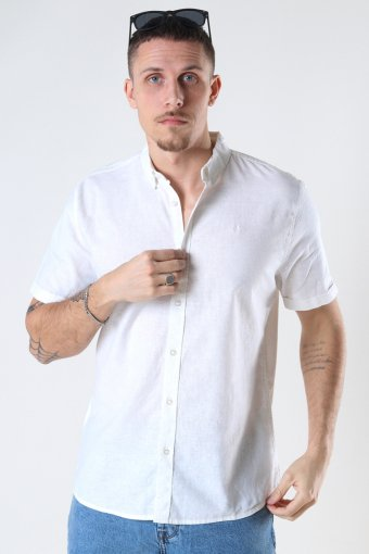 Cotton / Linnen Shirt S/S White