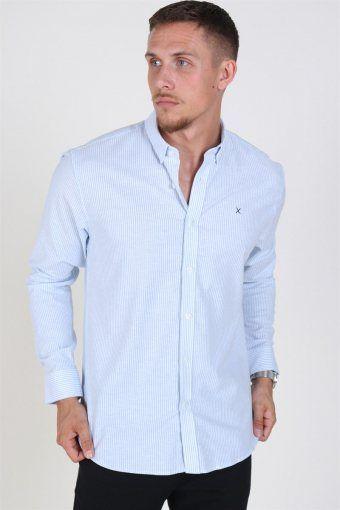 Clean Cut Oxford Stripe Shirt Light Blue