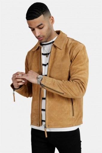 Phire Leather Jacket Warm Sand