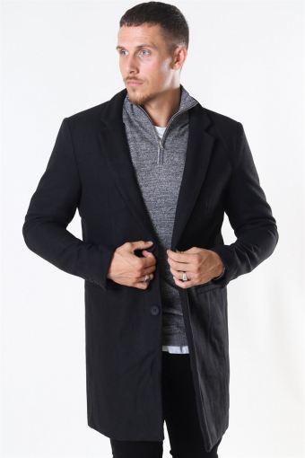 Maximus Wool Frakke Black