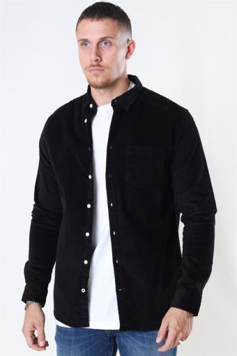 Johan Corduroy Overshirt Black