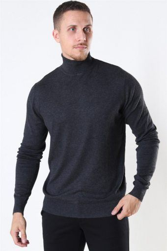 Potter Turtleneck Strik Charcoal Mix
