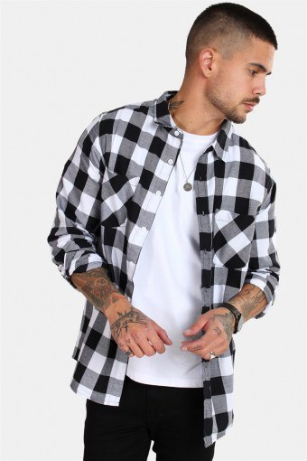 Checked Flanell Shirt Black/White