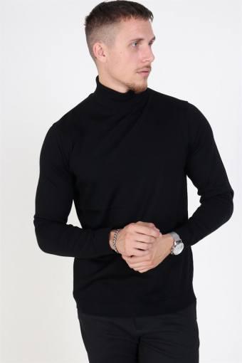 Merino Rullekrave Knit Black