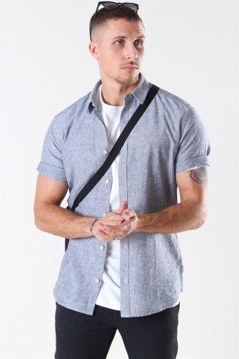 Caiden S/S Linen Shirt Dress Blues