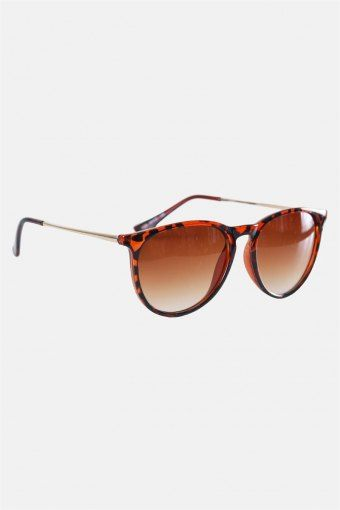 Fashion 1394 Sunglasses Brown Havana Gold Brown Gradient Lens