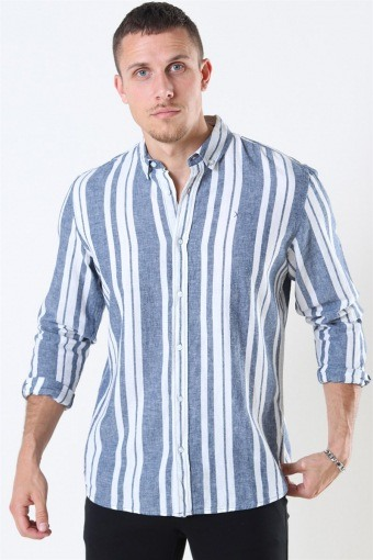 Clean Cut Sälen 146 LS Shirt Blue/Off White