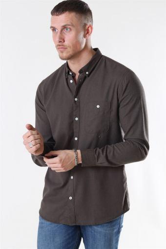 Johan Linen Shirt Army
