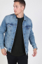 Only & Sons Coin Trucker Jacket Blue Denim