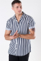 Only & Sons Wayne Striped Viscose Shirt Dress Blues
