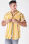 Only & Sons Wayne Striped Viscose Shirt Golden Spice