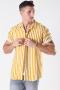 Only & Sons Wayne Striped Viscose Shirt Golden Spice