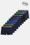 Jack & Jones JACSOLID TRUNKS 10 PACKS Navy Blazer Navy - Navy - Navy - Navy - Navy - BLK - BLK -Surf